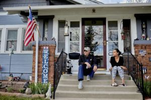 NEW YORK TIMES                                 James Crestwell and his wife, Nina Crestwell, at their home in Cheyenne, Wyo., Wednesday.