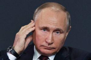 ASSOCIATED PRESS                                 Russian President Vladimir Putin attends the St. Petersburg International Economic Forum in St. Petersburg, Russia, today.