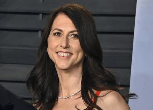 Evan Agostini/Invision/ASSOCIATED PRESS                                 MacKenzie Scott, the former wife of Amazon founder Jeff Bezos, arrived at the Vanity Fair Oscar Party, in March 2018, in Beverly Hills, Calif. Scott, the billionaire philanthropist known for her impromptu multi-billion dollar donations to charities and racial equity causes, announced today, that she has given $2.7 billion to 286 organizations.
