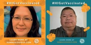 COURTESY OLOMANA LOOMIS ISC                                 Elaine Nishiura of Hilo, left, and Mark Matsuo of Honolulu are the first two winners of the COVID-19 vaccination incentives campaign.