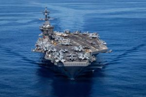 COURTESY U.S. NAVY The San Diego-based aircraft carrier USS Carl Vinson in the eastern Pacific Ocean on June 13.