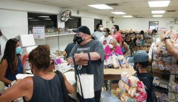Customers line up for last of Love's Bakery goods
