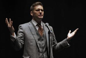 """ASSOCIATED PRESS                                 Richard Spencer, a white supremacist, spoke, in October 2017, at the University of Florida in Gainesville, Fla. Spencer has dubbed Bitcoin the """"currency of the alt-right."""""""