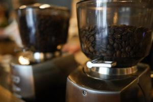 ASSOCIATED PRESS                                 Coffee beans are seen in grinders at Vigilante Coffee in College Park, Md.