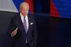 """ASSOCIATED PRESS                                 President Joe Biden participates in a CNN town hall at the Baltimore Center Stage Pearlstone Theater on in Baltimore, with moderator Anderson Cooper. China today said there is """"no room"""" for compromise or concessions over the issue of Taiwan, following a comment by Biden that the U.S. is committed to defending the island if it is attacked."""