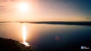 Старомайнский залив с воздуха. Фотография Данилы Пахомова.