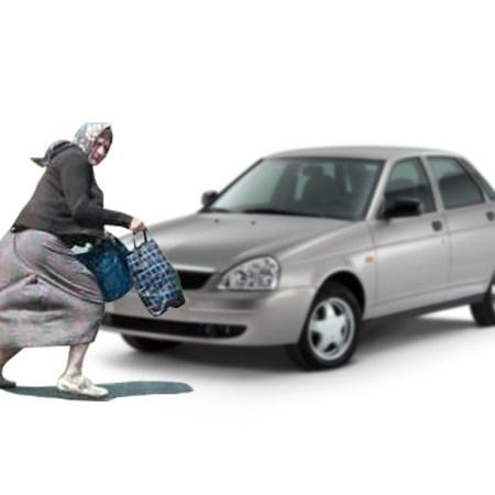 Приора наехала на женщину, перебегавшую дорогу