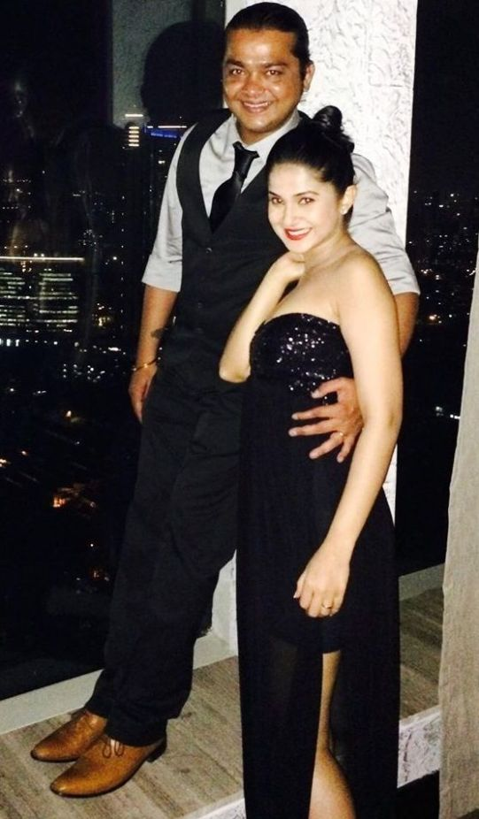 Jennifer Winget with her Brother
