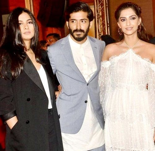 Rhea Kapoor with her brother Harshvardhan Kapoor and sister Sonam Kapoor