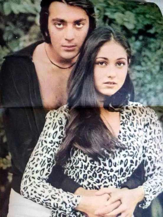 Sanjay Dutt With Tina Munim