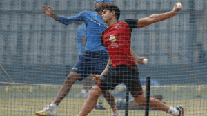 Arjun Tendulkar practicing balling