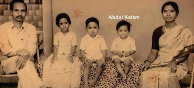 Kalam as a child with his siblings and parents