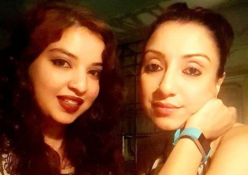 Madhurima Nigam with her sister Chandrima Misra