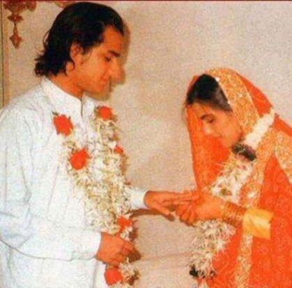 Saif Ali Khan And Amrita Singh's Marriage Picture