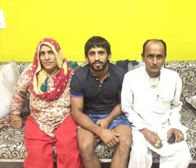 Bajrang With His Parents