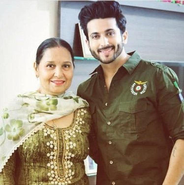 Dheeraj Dhooper with his mother