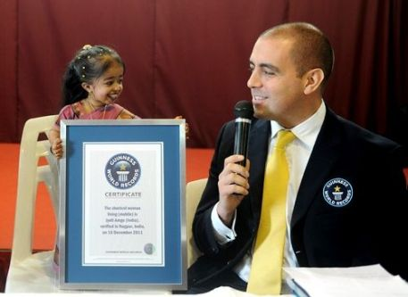 Jyoti Amge Being Awarded The World's Smallest Woman Title