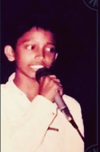 Nakash Aziz performing in a show during his childhood