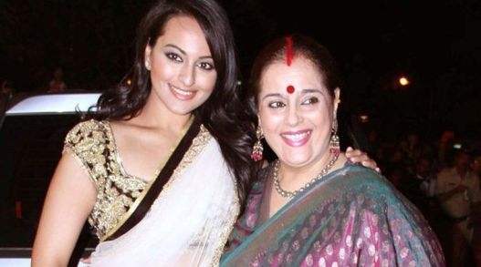 Poonam Sinha with her daughter