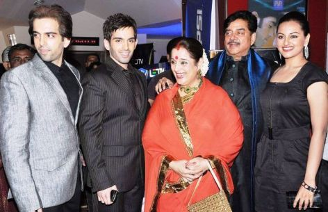 Poonam Sinha with her family