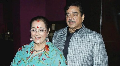 Poonam Sinha with her husband