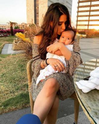 Ritika Sajdeh with her daughter