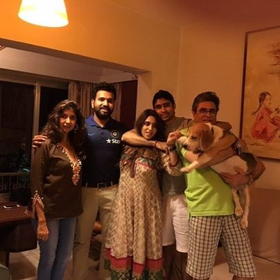 Ritika Sajdeh with her family
