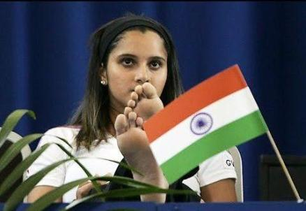 Sania Mirza national Falg Controversy