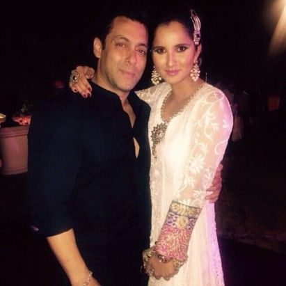 Sania Mirza with Salman Khan