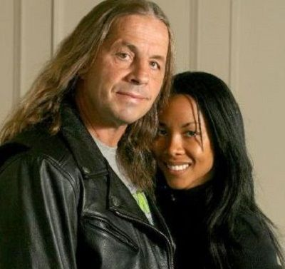 Stephanie Washington with her husband Bret Hart (Canadian-American retired professional wrestler, writer, and actor)