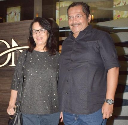 Tiku Talsania With His Wife Dipti Talsania