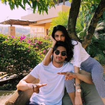 Athiya Shetty with her brother