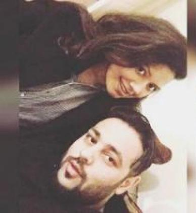 Badshah with his wife