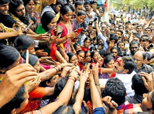 Jaganmohan Reddy In A Rally