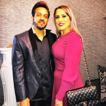Jazzy B with his wife