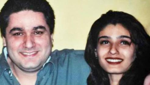 Raveena With Her Brother Rajiv Tandon