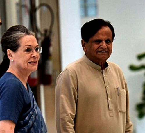 Sonia Gandhi With Ahmed Patel
