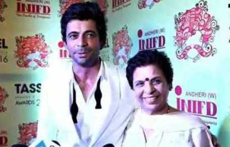 Sunil Grover With His Mother