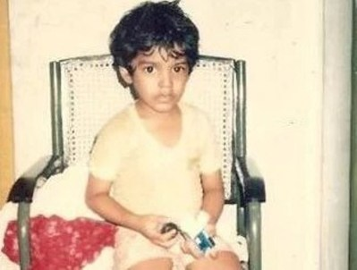 Pradeep Chandran as a Child