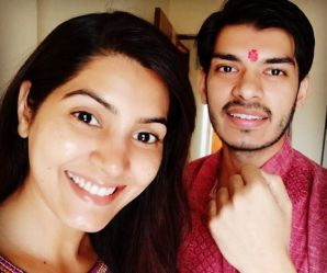 Sangeita Chauhaan with her brother