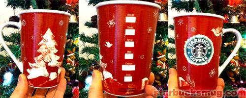 Starbucks Coffee 2008 Christmas Mug
