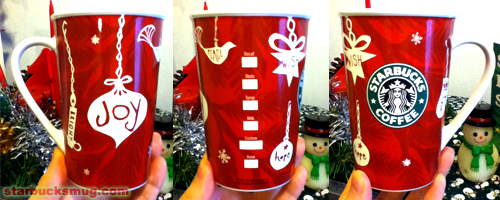 Starbucks Coffee 2009 Christmas Mug and a Frosty the Snowman Candle