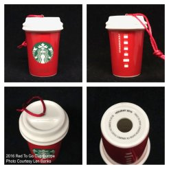 2016 Red To Go Cup Europe Starbucks Ornament