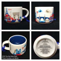 2016 You Are Here Paris Starbucks Ornament