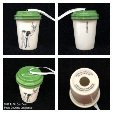 2017 To Go Cup Deer Starbucks Ornament