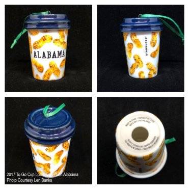 2017 To Go Cup Local Collection Alabama Starbucks Ornament