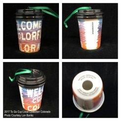 2017 To Go Cup Local Collection Colorado Starbucks Ornament