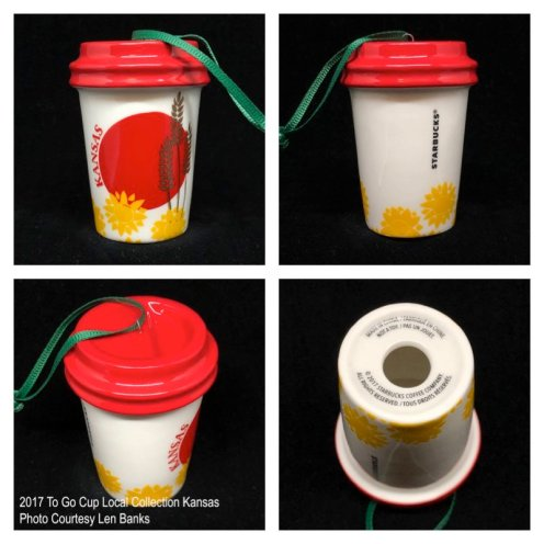 2017 To Go Cup Local Collection Kansas Starbucks Ornament