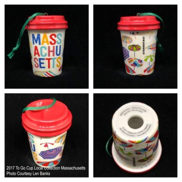 2017 To Go Cup Local Collection Massachusetts Starbucks Ornament