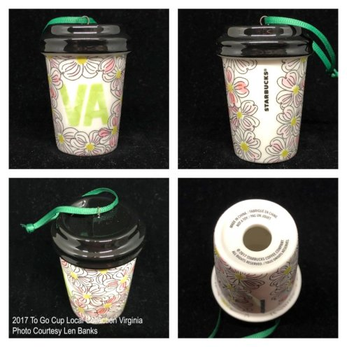 2017 To Go Cup Local Collection Virginia Starbucks Ornament